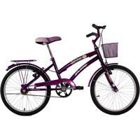Bicicleta Dalannio Aro 20 Com Cestinha Susi Violeta