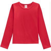 Blusa Infantil Menina Vermelho