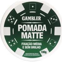 Pomada Matte Média Fixação 180G - Gambler - Masculino-Incolor