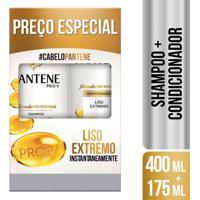 Kit Pantene Liso Extremo Shampoo 400Ml + Condicionador 175Ml
