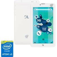 """Tablet Dl Socialphone Com Função Celular Tx316Bra - Tela 7"""", Intel Atom X3, 8Gb, 1Gb Ram, Android 5, Wi-Fi + 3G, Câmera Frontal, Bluetooth - Branco"""
