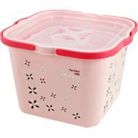 Caixa Organizadora Com 2 Peças Jacki Design Organizadores Rosa - Kanui