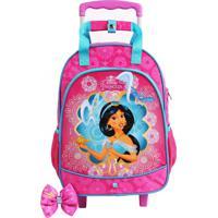 Mochila De Rodinhas Princesas Disney Jasmine Pink