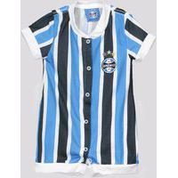 Macacão Grêmio Tricolor Infantil Azul E Preto