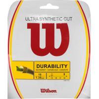 Corda Para Raquete De Tênis Wilson Ultra Synthetic Gut - 11,7M - Transparente