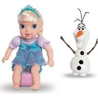 Conjunto De Bonecas - 30 Cm - Disney - Frozen - Elsa E Olaf - Mimo - Feminino