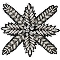 Haider Ackermann Broche Floral Com Cristais - Metálico