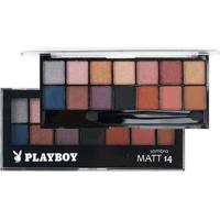 Paleta De Sombra Playboy Matt 14 Cores - Hb-92930Pb - Unissex-Incolor