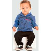 Conjunto Infantil Bebê Moletom Flanelado Trenzinho