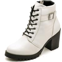 Bota Cut Out Boot Q&A Verniz 18000 Branco