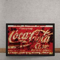 Quadro Decorativo Coca Cola Destroyed Vermelho 25X35
