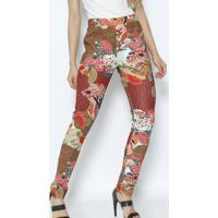 Legging Floral- Marrom & Laranjalez A Lez