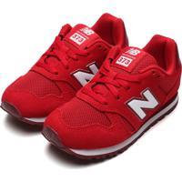 Tênis Couro New Balance Infantil K373 Vermelho