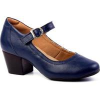 Scarpin Couro Doctor Shoes 287 Feminino - Feminino-Marinho
