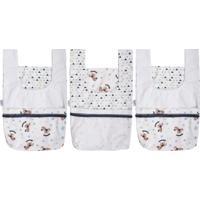 Porta Fraldas Incomfral Baby Joy Kit 3 Peças Azul Para O Enxoval.