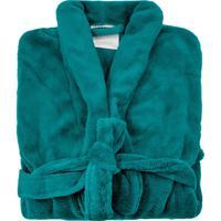 Roupão De Banho Microfibra Soft Camesa Unissex Verde - Grade