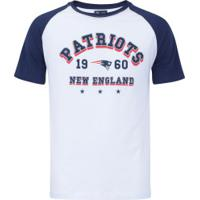 Camiseta New Era New England Patriots Sinse Team - Masculina - Branco/Azul Esc