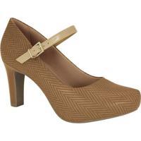 Sapato Tradicional Com Fivela - Bege- Salto: 7Cmramarim