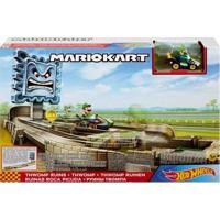 Pista De Percurso E Veículo - Hot Wheels - Mario Kart - Luigi - Thwomp Ruins - Mattel