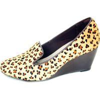 Sapato Malu Super Comfort Anabela Onça