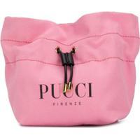 Emilio Pucci Necessaire Com Logo E Amarração - Rosa
