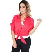 Camisa Lupim Manga Longa Rosa