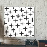 Placa Decorativa - Crosses P&B