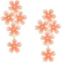 Jennifer Behr Marlene Floral Earrings - Rosa
