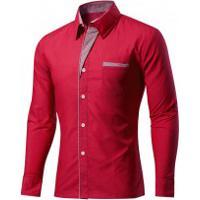 Camisa Slim Fit Detail - Vermelha