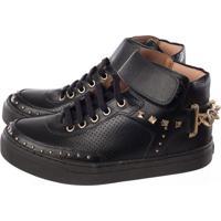 Tênis Sneaker Cano Alto My Comfort Preto
