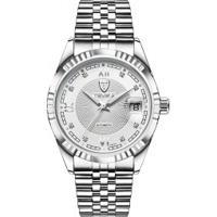 Relógio Tevise T629-003 Masculino Automático Pulseira Aço - Branco