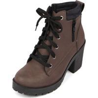 Bota Trivalle Shoes Tratorada Ziper Marrom