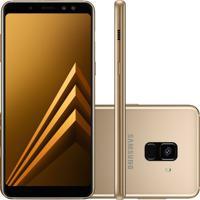 Usado Smartphone Samsung Galaxy A8 2018 Duos 64Gb Sm-A530 Dourado (Muito Bom)