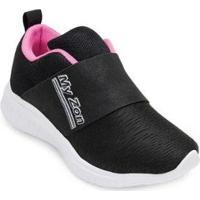 Tênis Myzon Infantil Mz20-348 Feminino - Feminino-Preto+Pink