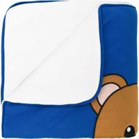 Moschino Kids Cobertor Com Estampa 'Teddy Bear' - Azul