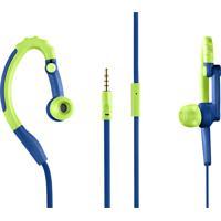 Fone De Ouvido Earhook Sport Azul/Verde Ph207 - Pulse