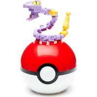Bloco De Montar - Mega Construx - Pokémon - Pokebola - Ekans - Mattel - Unissex-Incolor