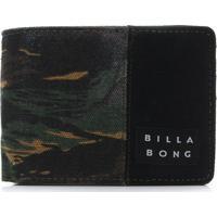 Carteira Billabong Tides Verde/Preta