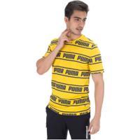 Camiseta Puma Amplified - Masculina - Amarelo Escuro