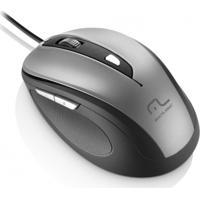 Mouse Multilaser Com Fio 1600Dpi Usb 6 Botões Preto E Cinza