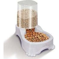 Comedouro E Bebedouro Pet Injet Automático De Dupla Função 1 Litro - Branco