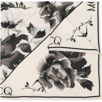 Mcq Alexander Mcqueen Echarpe Leve Floral - Neutro