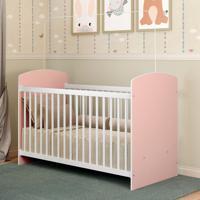 Berço Grade Palito 0515.941 Branco/Rosa - Multimóveis