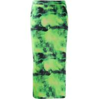 Versace Saia Lápis Tie Dye - Verde