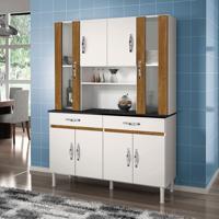 Cozinha Compacta Sampaio 8 Pt 2 Gv Branco E Caramelo