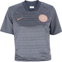 Camiseta Nike Football Club Dry Ss Dupla Face - Feminina - Azul Escuro