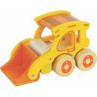 Carrinho De Madeira Newart Toys Coleção Carrinhos - Carregadeira - Amarela