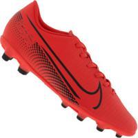 Chuteira De Campo Nike Mercurial Vapor 13 Club Fg/Mg - Adulto - Coral/Preto