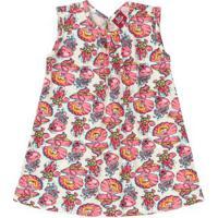 Vestido Bebê Estampado Rosa
