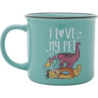 Caneca Porcelana Flinstones Dino Love My Pet 380 Ml - Caneca Porcelana Flinstones Dino Love My Pet 380 Ml